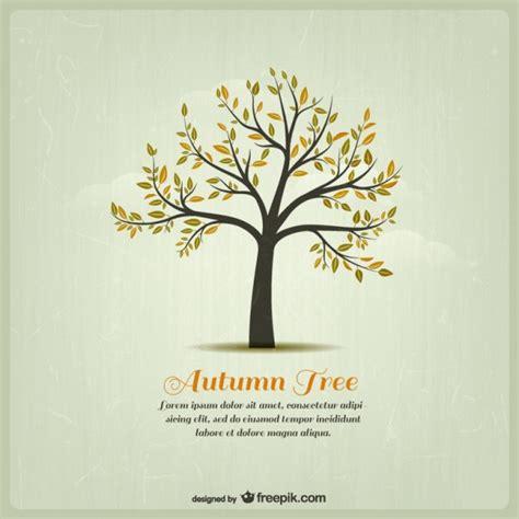 Kostenlose Vorlage Baum Herbst Baum Vorlage Der Kostenlosen Vektor