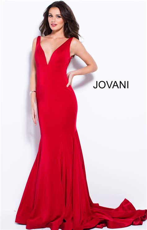 jovani   neckline fitted simple mermaid dress prom