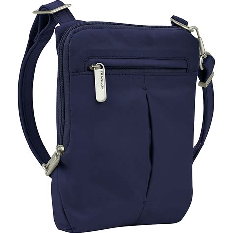 travelon anti theft light slim bag travelon anti theft light slim mini crossbody