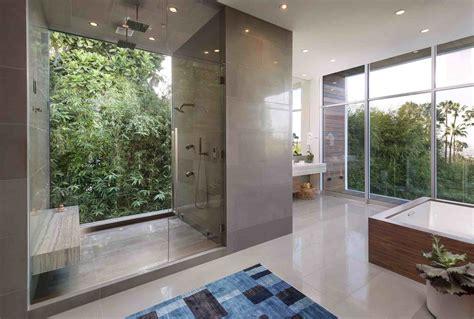 one way bathroom window ultramodern hillside los angeles jet set estate