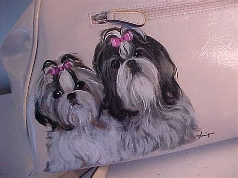 shih tzu purse 17 best images about handpainted handbags by moniquedogs dnneidling aol on