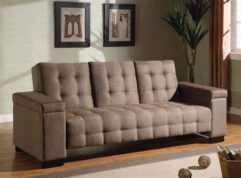 pull down sleeper sofa tan microfiber contemporary sofa bed w pull down table