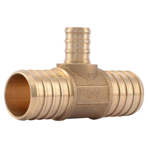 Shark Plumbing Fittings Reviews by Shop Sharkbite 1 In Dia Brass Pex Crimp Fitting At