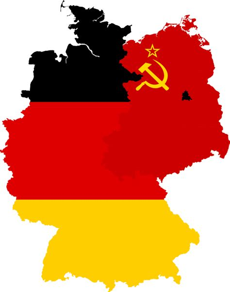 east germany map west germany east germany flag map by