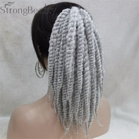 kinky twist silver hair twisted tails promotion shop for promotional twisted tails
