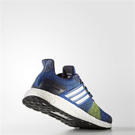 adidas ultra boost st mens blue sneakers running road