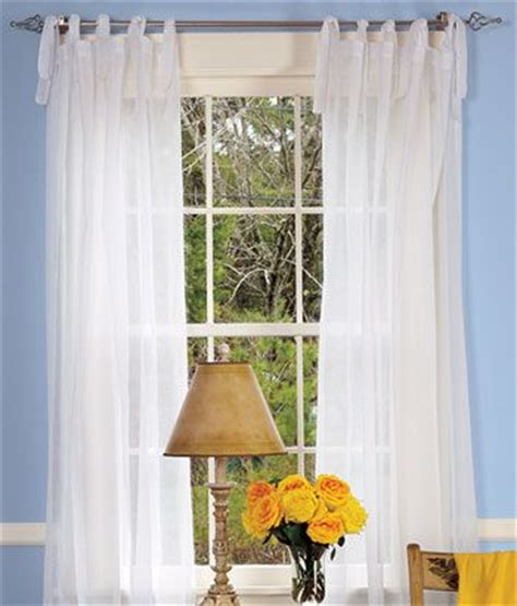 tie tab curtains cotton voile tie tab top curtains for the home pinterest