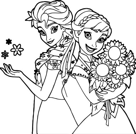 frozen fever coloring pages to print frozen fever and snow and flower coloring page