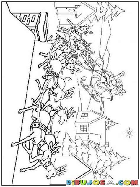 imagenes de santa claus en su trineo para colorear dibujo de santa claus en su trineo para colorear