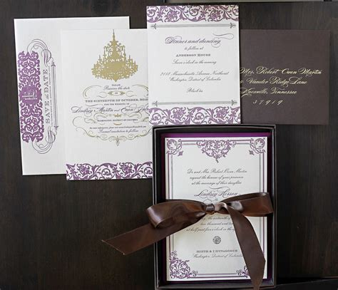 free purple and green wedding invitation templates