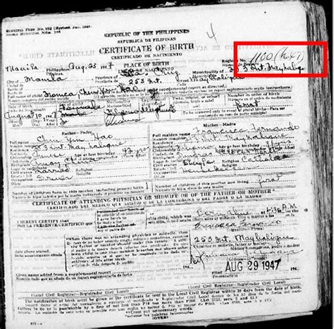 Philippine Birth Records Familysearch Wiki Wikiproject Waypointing Philippines Manila Civil Registration Part