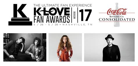 klove fan awards tickets for king country lauren daigle and tobymac top nominees