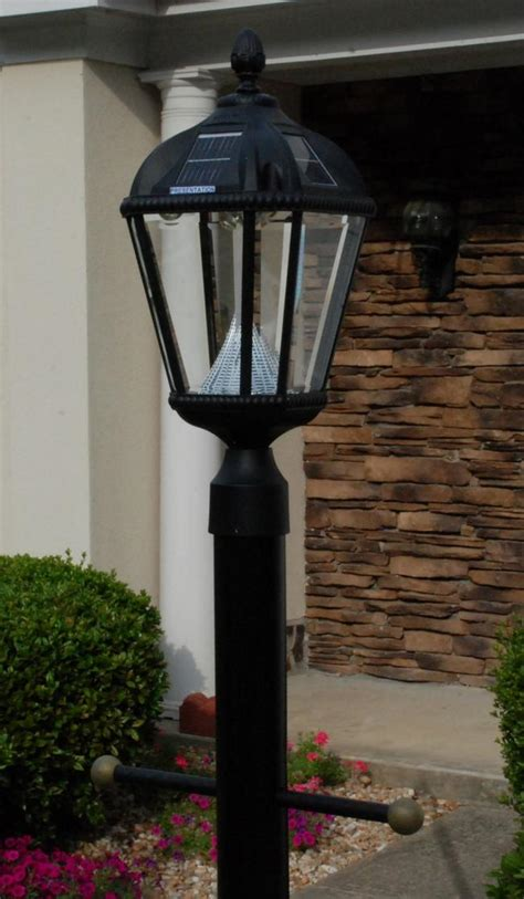 Post Solar Lights Outdoor Antique Commercial Solar L Post Light Fixture Antique L Solar Powered Outdoor L Post Light