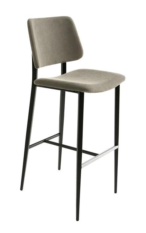 sgabelli imbottiti con schienale sgabello ad altezza fissa con seduta e schienale imbottiti