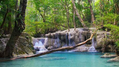 thailand erawan national park kanchanaburi province  bing desktop wallpaper preview