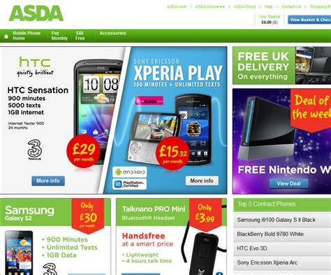 asda mobile asda mobile phones voucher code find discount promo