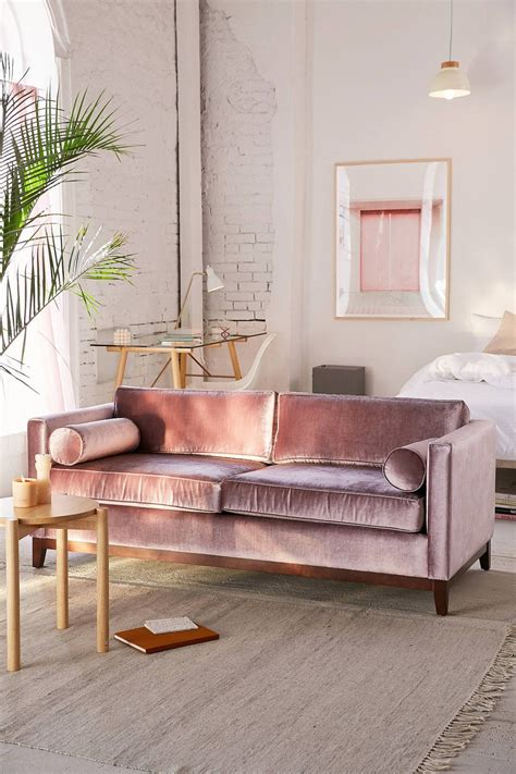 Pink Sectional Sofa Sofa Awesome Pink Velvet Sofa Dusty Pink Velvet Tufted Sofa With Rug Pink Velvet Sofa