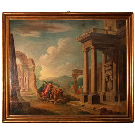 Home Decor Wall Painting Ideas by Antique Oil Painting Classical Roman Ruins 19th Century At