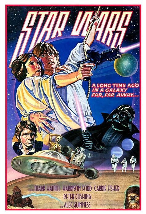 han dislande classic reprint 0259071064 star wars poster luke skywalker princess leia darth vader 13 quot x19 quot or 24 quot x36 quot sci fi movie