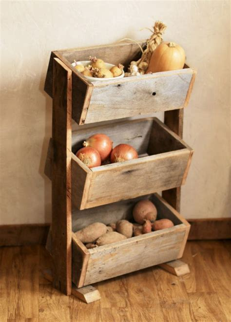 wooden home decor items potato bin vegetable bin scandinavian barn wood