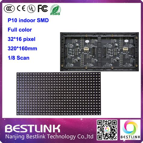 Modul P10 Rgb Smd Color Indoor Promo Gratis Tutorial Interface p10 smd indoor color module 32 16 pixel led panel 320 160mm rgb led wall led screen