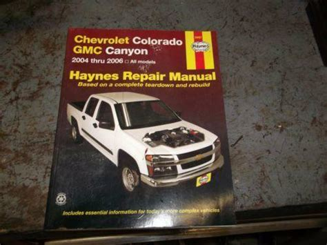 auto repair manual free download 2004 chevrolet colorado parental controls chevrolet colorado repair manual ebay