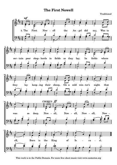 The First Noel SATB - Voix, SATB - Partitions - Cantorion