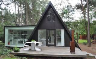 modern extension to a small a frame home moon to moon a frame triangle houses