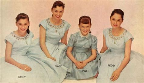 The Lennon Sisters, Kathy, Diane, Janet and Peggy in 1956 ... B 52 Band Members