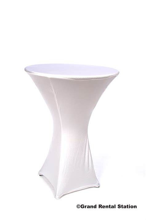 spandex cocktail table covers spandex cocktail table cover 30 quot x 42 quot base grand