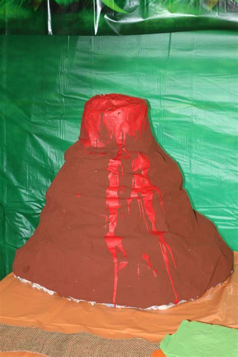 A Paper Mache Volcano - paper mache volcano easy dino