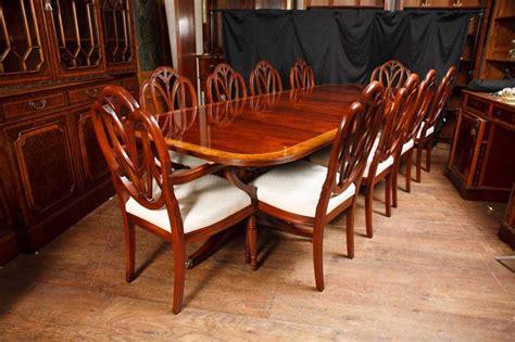 Antique Dining Table Set Regency Pedestal Table Set Hepplewhite Dining Chairs Suite Antique Dining Tables