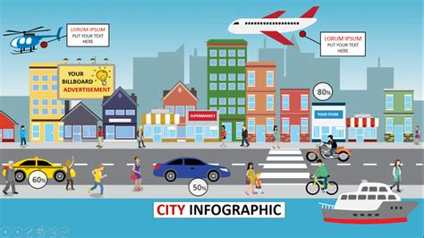 animated city infographic powerpoint template