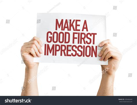 7 Ways To Make A Impression At An by Make A Impression Placard Isolated On White