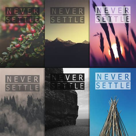 wallpaper never settle never settle wallpaper pack 2 12 wallpapers oneplus