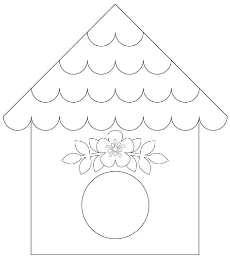 birdhouse templates cards bird house