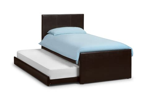 Bed With Mattress by Buy Collection Cosmo 3ft Single Leather Guest Bed