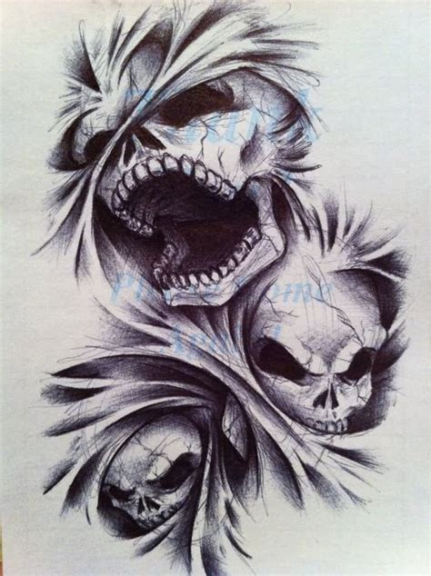 skull and demon tattoo designs images designs