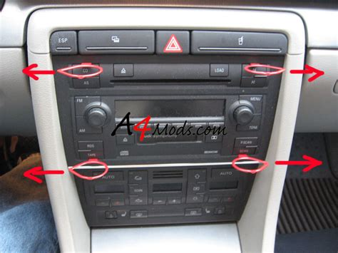 service manual how to remove radio from a 2000 audi tt