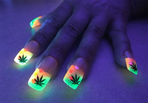 bioluminails pink green cannabis tips from electronicgirl on