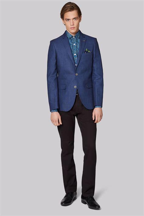 Linen Cotton Jacket moss slim fit blue linen cotton jacket