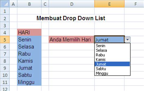 membuat menu drop down cantik tips microsoft excel cara membuat drop down list galerry