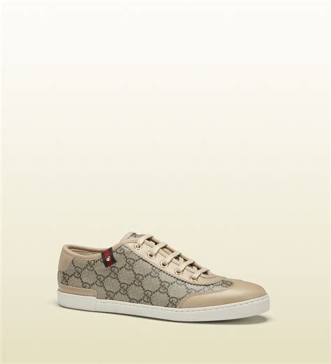 gucci shoes gucci barcelona gg supreme canvas sneakers in beige