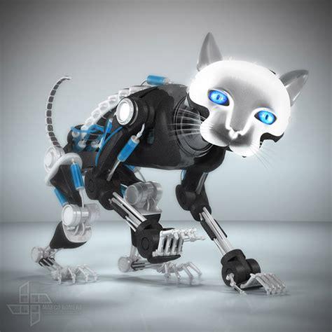 Umakuka 3d Robot Tiger robo cat on behance