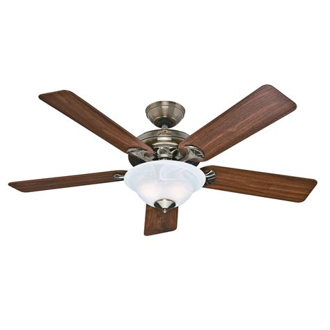 Brass Ceiling Fan With Light Shop The Brookline 52 In Antique Brass Downrod Or Flush Mount Ceiling Fan With Light Kit