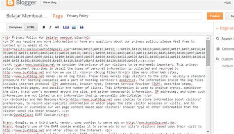 cara membuat blog gratis untuk iklan cara membuat privacy policy diblog dengan mudah dan cepat