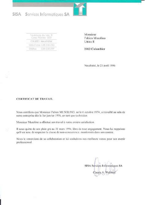 certificat de travail mod c3 a8le