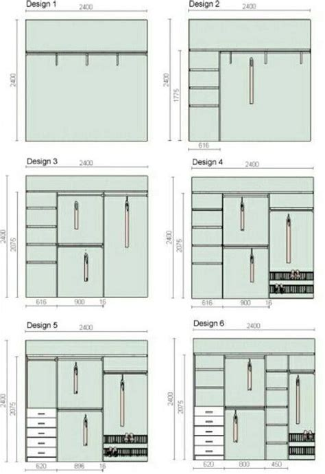 Closet Design Measurements by Dimens 245 Es Para Closet E Guarda Roupa Planejado Dicas Interior Design Closet