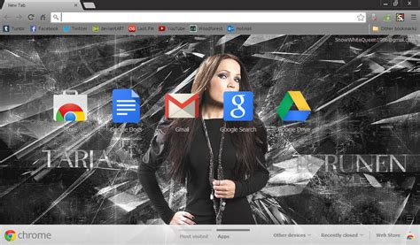 theme google chrome glass black glass tarja turunen google chrome theme by