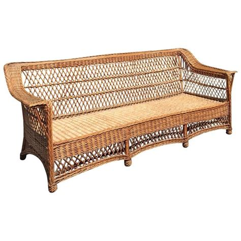 vintage wicker sofa antique willow bar harbor wicker sofa for sale at 1stdibs